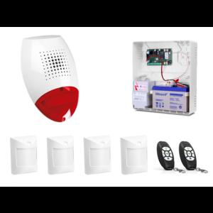 Alarm Satel Micra, 2xMPT-300, 4xAmber, syg. zew. SP-500