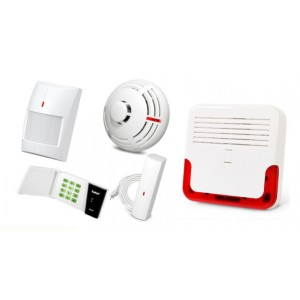 Alarm Satel Micra LED, 4xMPD-300, 2xMFD-300, 2xMSD-300, syg. zew. SD-6000