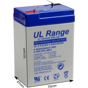 "Akumulator AGM ULTRACELL UL 6V 4.5AH ""żelowy"""