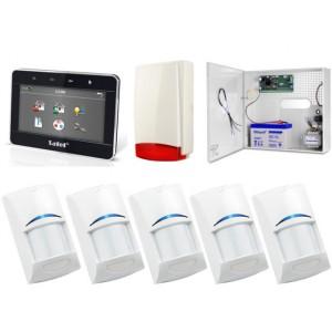 Zestaw alarmowy SATEL Integra 24, Klawiatura Graficzna, 5 czujek ruchu, sygnalizator zewnętrzny