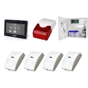 Zestaw alarmowy SATEL Integra 24, Klawiatura Graficzna, 4 czujki ruchu PET, sygnalizator wewnętrzny