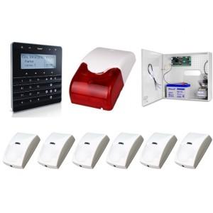Zestaw alarmowy SATEL Integra 32, Klawiatura sensoryczna, 6 czujek ruchu PET, sygnalizator wewnętrzny