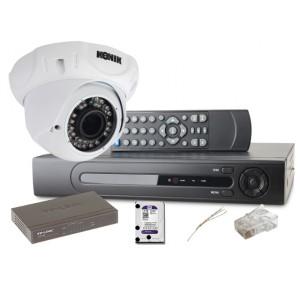Zestaw monitoringu IP 2 kamery 1080P