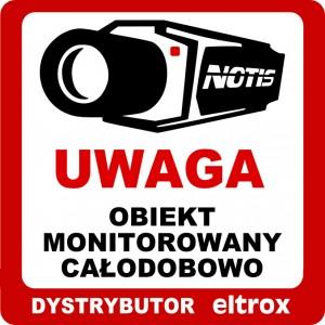 NAKLEJKA OBIEKT MONITOROWANY 20x20 ELTROX 6448