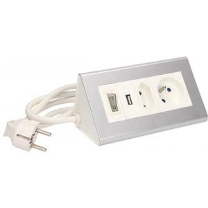 Przedłużacz biurkowy z wyłącznikiem  OR-AE-1328 2x250V AC i USB