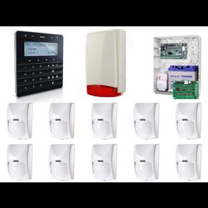 Zestaw alarmowy SATEL Integra 128-WRL, Klawiatura Sensoryczna, 10 czujek ruchu PET, sygnalizator zewnętrzny, powiadomienie GSM
