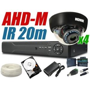 Zestaw monitoringu ahd 4 kamery 720P