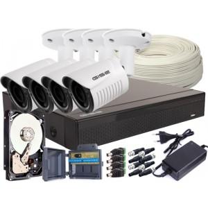 Zestaw AHD, 4x Kamera HD/IR25, Rejestrator 4ch + 1TB
